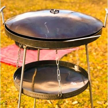 """Набір """"Сковородка з кришкою 500мм із підставкою універсальною повітряною із розбірними ніжками та чохлом"""""""