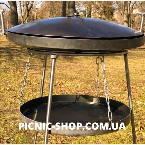"""Набор """"Сковородка с крышкой 500мм с подставкой универсальной воздушной с разборными ножками и чехлом"""""""