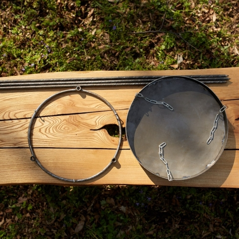 Подставка для сковороды универсальная воздушная (для сковородок 500мм), 400х900мм