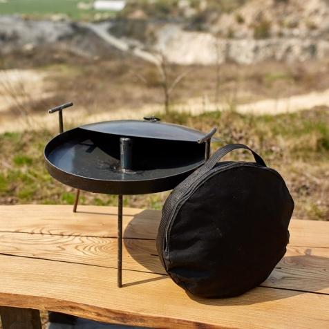 """Набір """"Сковородка із кришкою і чохлом """"Димок"""", 400 мм"""