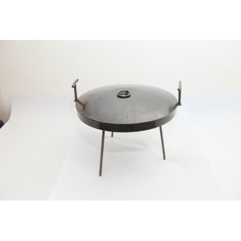 """Набір сковорідка BORO """"Ромашка з бортиком"""", 400мм з кришкою + чехол"""